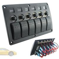 Plastic Switch Panel and Red Single Bar Switch Combination Panel with PCB and Overload Protector for Yacht / Ship / RV