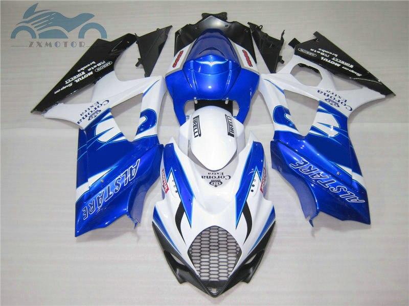 Custom Fairing Kits For Suzuki GSXR 1000 K7 K8 2007 2008 Motorcycle Street Street Fairings Kit GSXR1000 07 08 Blue Corona GD12