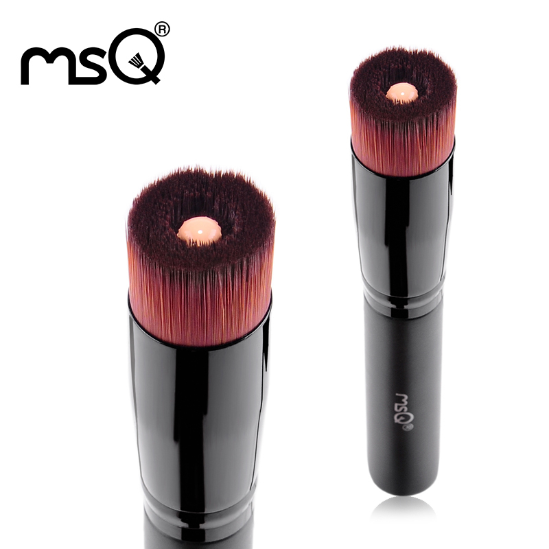 Mini 2Pcs Professional Powder Blush Makeup Foundation Brush Tool Cosmetic Stipple Blending Fiber Make Up Brushes MSQ 2017 2017 hot rose gold powder blush brush professional makeup brush 200 flawless blush powder brush kabuki foundation make up tool