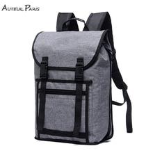 AUTEUIL PARIS Waterproof Large Capacity Laptop Backpack Travel Bag Man Grey Backpack  for School Teenagers Simple Style рюкзак xiaomi simple urban life style backpack grey