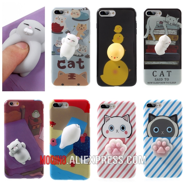 the best attitude 8c5f1 f8152 US $1.99 |Cute Squishy Cat Phone Case 3D Protective Soft Silicone Pappy  Squishy Cat TPU Phone Case for iPhone 6 6s 7 8 7Plus 6Plus 8Plus-in Fitted  ...