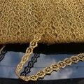 1 см золотая кружевная лента с вязаным крючком, лента «сделай сам» для свадьбы, косплея, одежды, швейная ткань, украшения для головных уборов ...