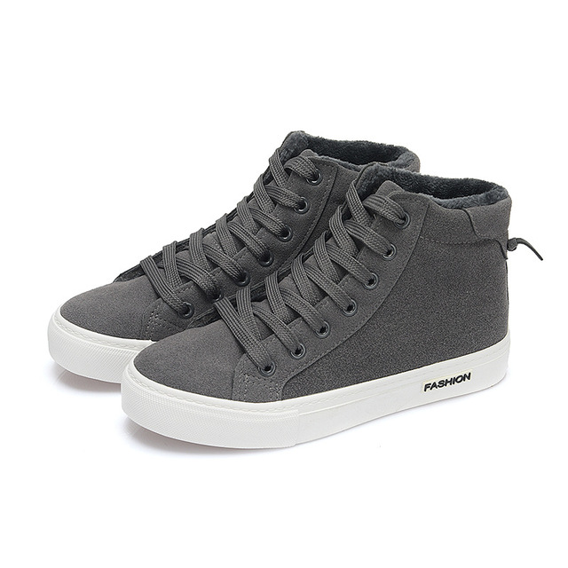 High Top New Fashion 2017 Winter Shoes Warm Women Casual Shoes Breathable Zapatillas Plaform For Ladies Short Plush Zapatos B357