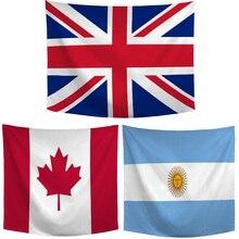 クリエイティブワールドフラッグプリントリビングルームタペストリーアルゼンチンオランダイギリスホーム寝室ヘッドボードテーブル飾る毛布