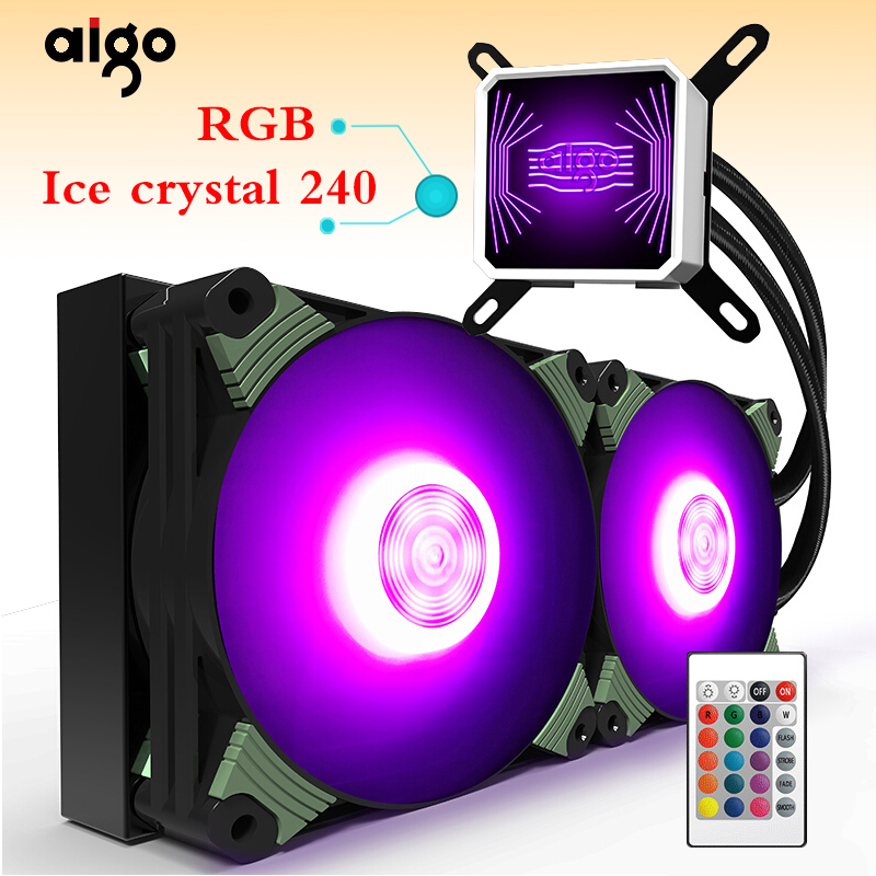 Aigo water cooling radiator TDP 350W RGB desktop computer radiator CPU integrated water cooling Cooler LGA