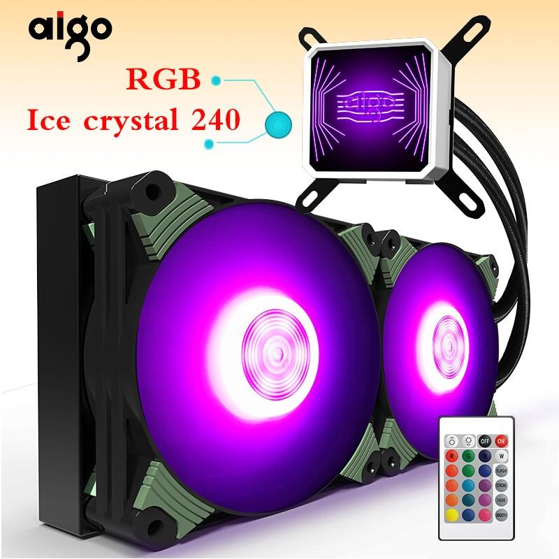 Aigo TDP 350W RGB computador desktop radiador de resfriamento de água do radiador de refrigeração de água CPU integrada Refrigerador LGA 775/115x /AM2/AM3/AM4