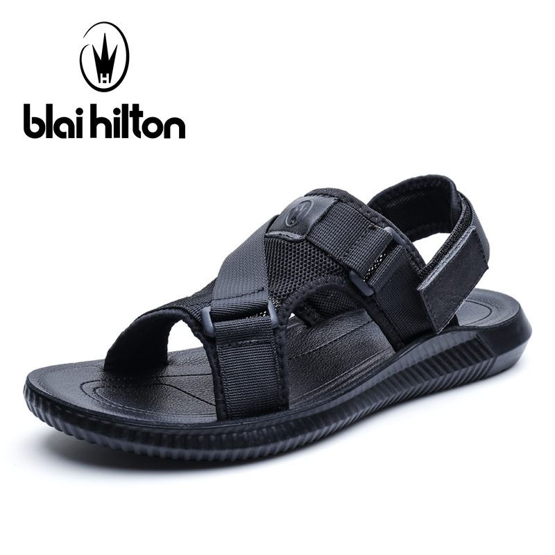 Blai Hilton 2018 New Fashion Summer Sandals Outdoor leisure beach shoes Breathable/Comfortable Hook &Loop men shoes Sandals