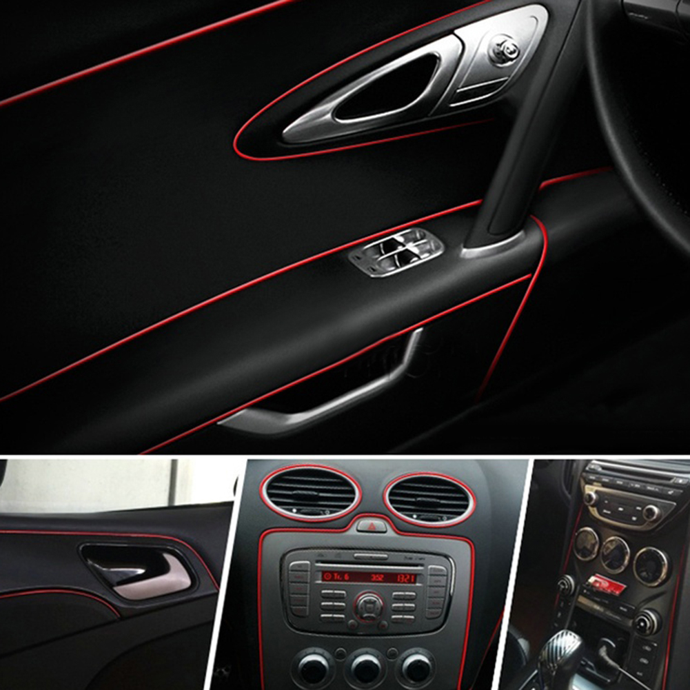5m Car Interior Decorative Thread Stickers Decals Chrome Styling Trim Strip in Interior Mouldings from Automobiles Motorcycles