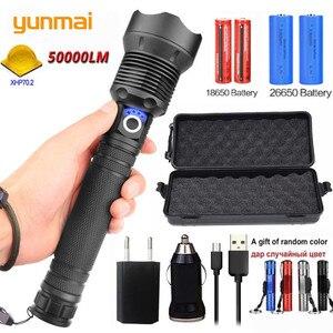 Image 2 - 90000 lumens XLamp XHP70.2 săn bắn mạnh nhất Đèn pin Led sạc điện USB Đèn pin CREE XHP70 XHP50 18650 hoặc 26650 Pin