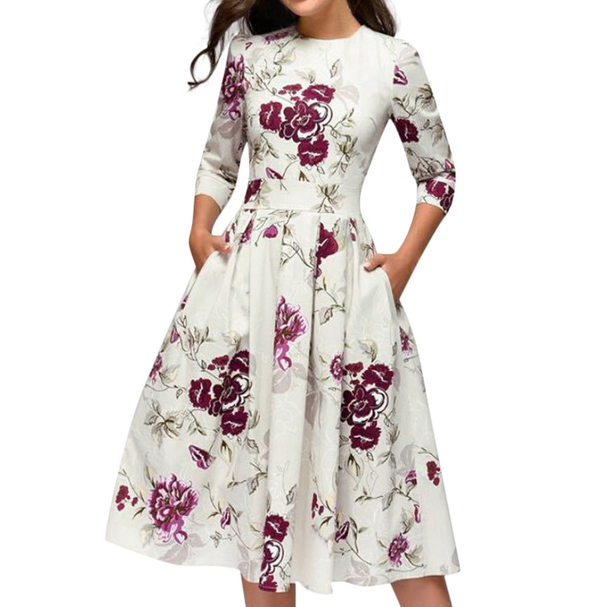 HTB14aqHPjDpK1RjSZFrq6y78VXaG 2019 Fashion Sexy Dress Girl Summer Dresses Casual Elegent A-line Vintage Printing Party Vestidos Dress Women Summer Plus Size