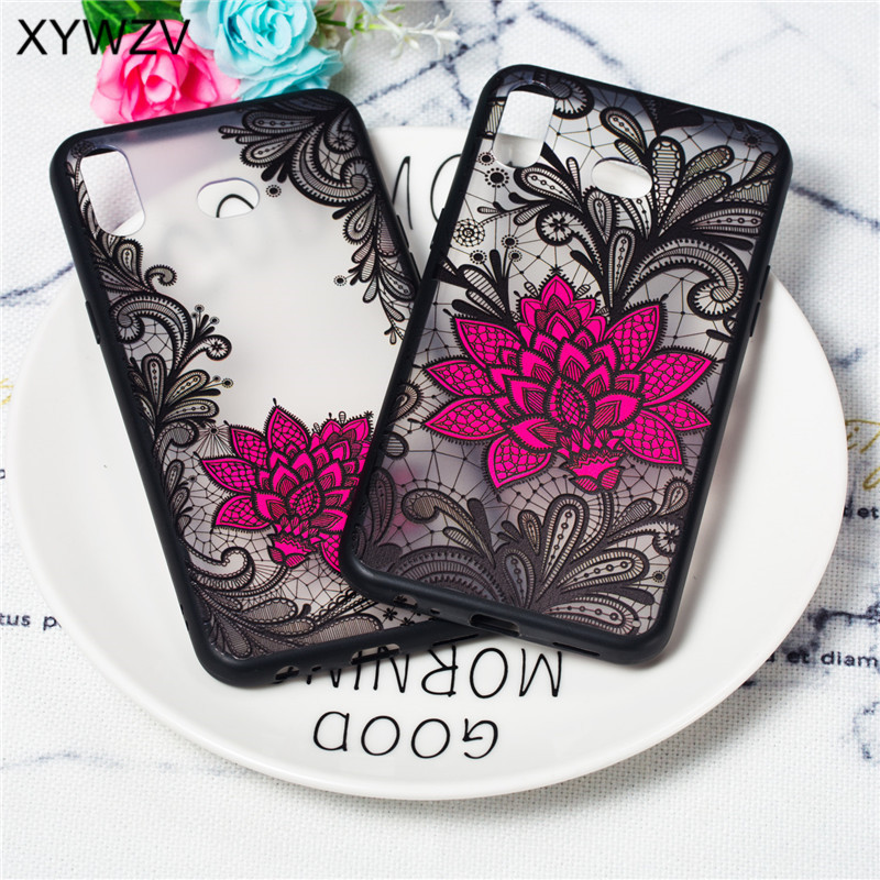 Flower Case For Samsung Galaxy A6S Cover Luxury Retro Lace Pattern Matte Phone