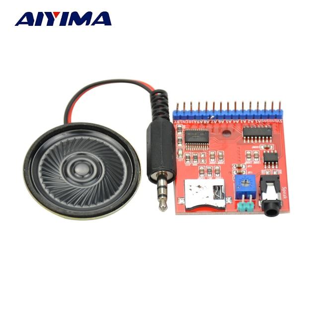 Aiyima MP3 Voix Module SD/TF Diffusion Audio Trigger Lecteur + Haut-Parleur pour MCU SMC