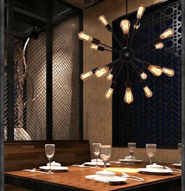 E27 Edison Bulbs Vintage Industrial Loft Pendant Light 1216