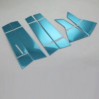 Car Styling auto accessories stainless steel window middle trims For HONDA CIVIC 2017