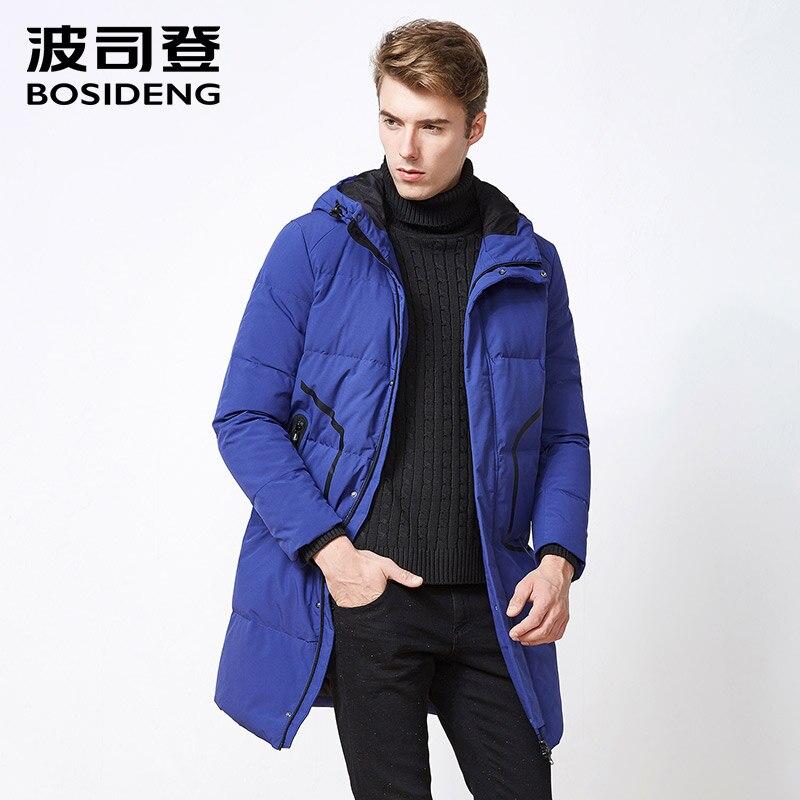 bosideng long duck down jacket for men down coat letter