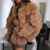 2018 new winter imported fox fur coat female temperament warm womens plus size fashions faux fur coat coat