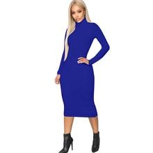 Sexy high collar zipper dress fashion casual new hot 2019 autumn Slim bag hip