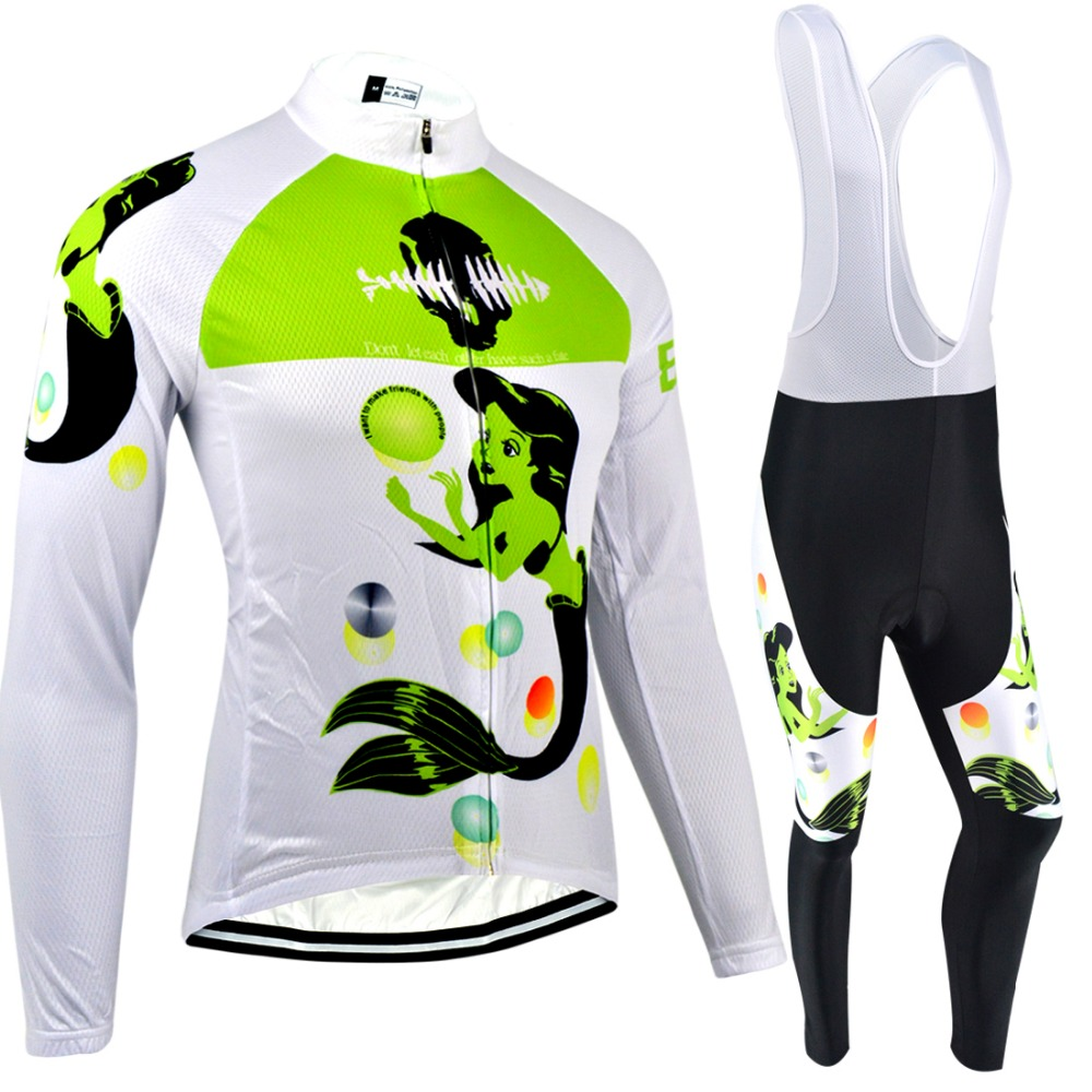 ФОТО BXIO Brand Women Winter Thermal Fleece Cycling Jerseys Sets Raiders Jersey Outdoor Cycling Clothing Funny Ropa Ciclismo 066