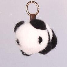Панда брелок норка панда ювелирные изделия плюшевые украшения меховая сумка Подвеска Брелки брелок милый брелок меховой брелок