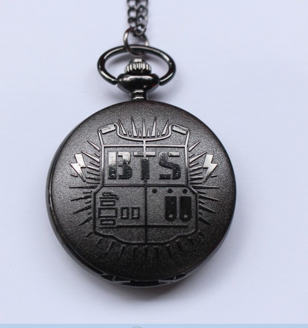 Antique BTS Quartz Pocket Watch Analog Pendant Necklace Chain Mens Womens Watche