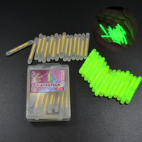 Rg 300pcs/lot 4.5*39mm Glowing Fluorescent Fishing Light Visibility 30M Luminous Float Night Fishing Float For Carp