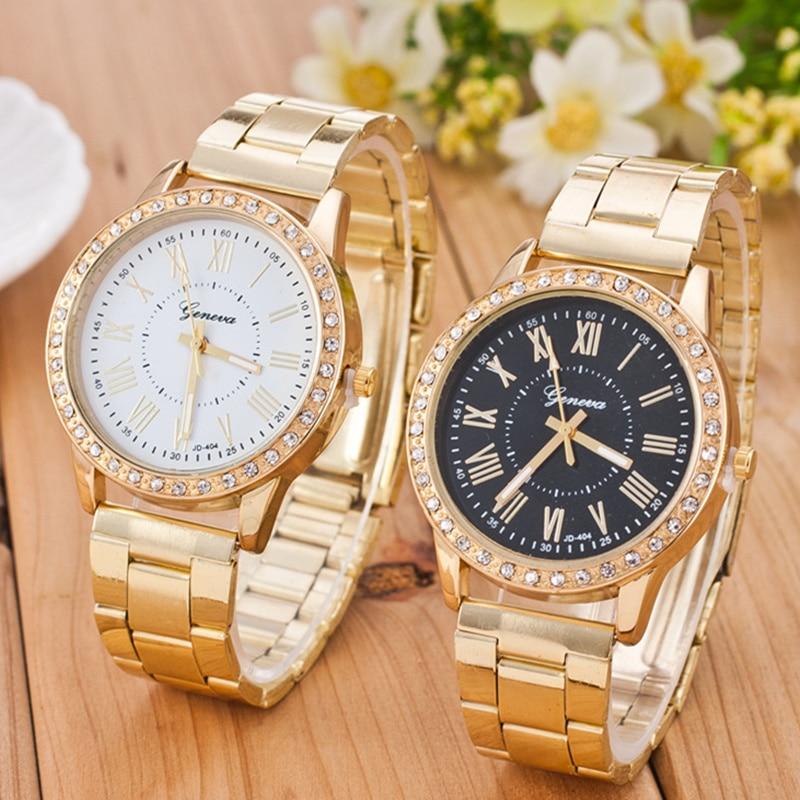 Year New Women Watches Luxury Gold Quartz Watch Stainless Steel Rhinestone Women's Watches Relogio Feminino Clock Reloj Mujer