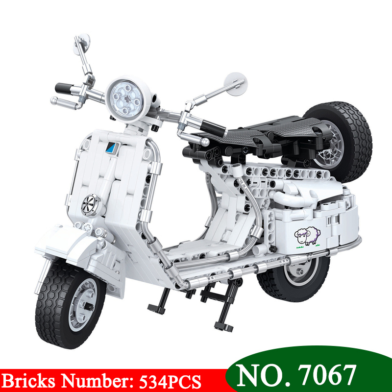Winner 7067 534pcs Technic Pedal Motorcycle Motorbike Moto Building Block DIY Educational Bricks Toys for Children Great Gift aiboully 7061 550pcs technic motorbike motorcycle car bicycle building bricks blocks toys for children gift