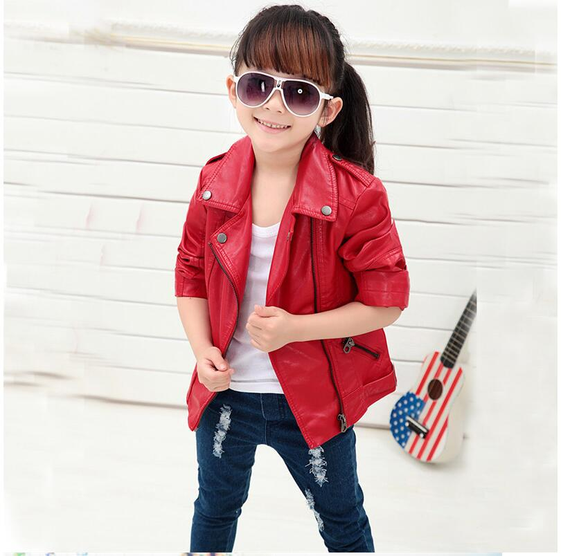 Baby Boys Leather Jacket Kids Girls and Coats Spring Kids Leather - Children's Clothing - Photo 2