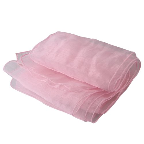 SZS Hot 10 Pink Organza Chair Cover Sashes Bow for Wedding Party Decor