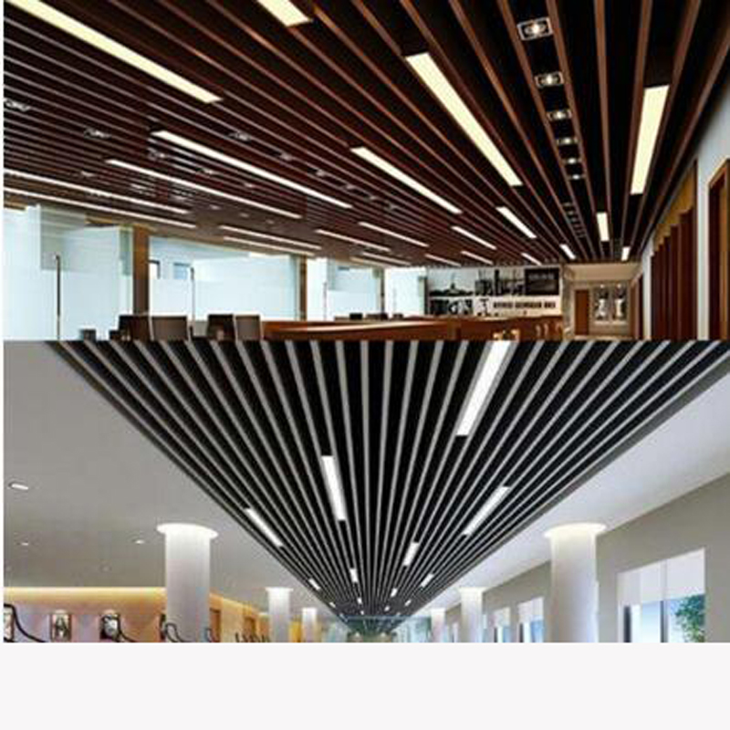 Us 107 8 56 Off Led Strip Lights Office Ceiling U Shaped Aluminum Ping Malls Bar Bars Custom Lighting Project Fixture In