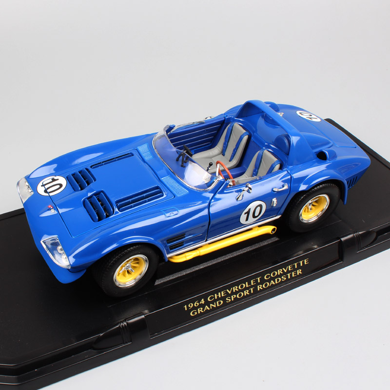 1:18 échelle Vintage route signature 1964 Chevrolet Corvette C2 Grand Sport couture Ray course Roadster voiture moulé sous pression berline modèle jouets