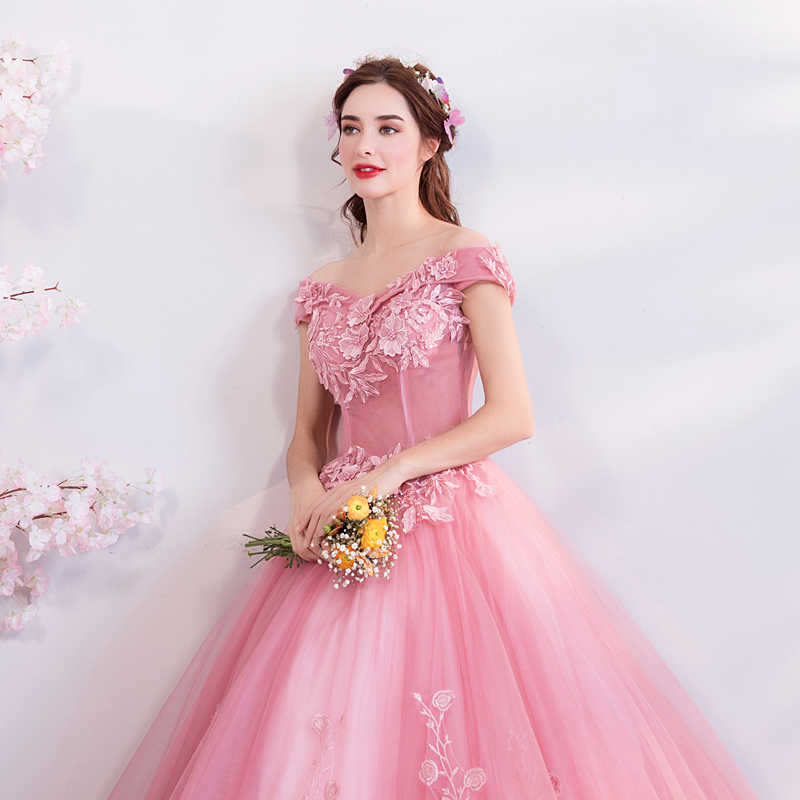 4b595e66a5 ... It s YiiYa Soybean Evening Dresses A-line Boat Neck Beading Flowers  Party Formal Dress Floor ...