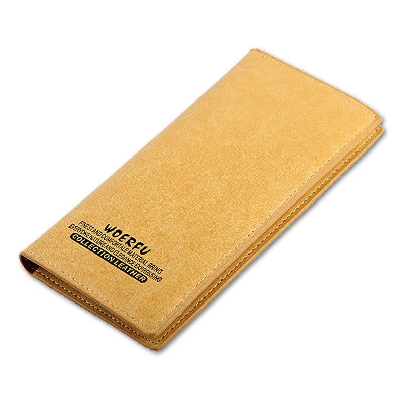 Genuine Leather Long Slim Men s Wallets Long Design Multifunctional Cow leather Purses