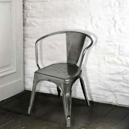 European Metal Chair Dining Chair Iron Furniture Minimalist Loft  Style  Fast Food Restaurant Chairs