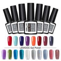 LEMOOC Nails Gel Polish 186 Pink Nail Color Soak Off Nail Gel Polish 8ml  Pink Vernis Semi Permanant UV Nail Art Gel Varnish