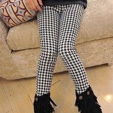 Коллекция года, модные зимние теплые плотные леггинсы для девочек узкие брюки в клетку для девочек, одежда обтягивающие брюки для маленьких девочек возрастом от 3 до 11 лет