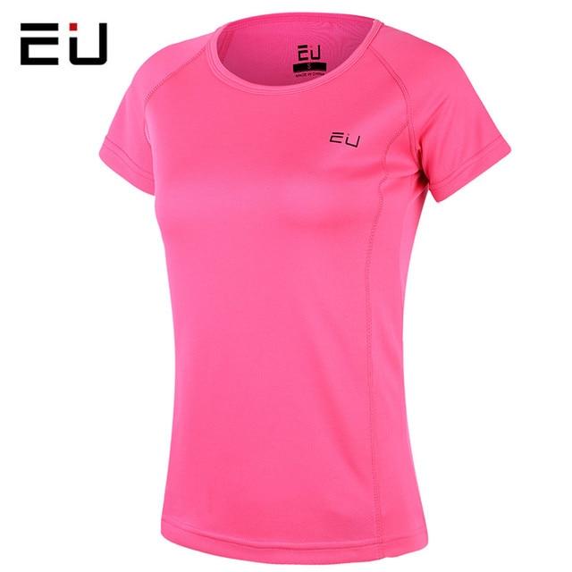 0cfef2541a0 EU Running Shirts Women Sport Shirts Quick Dry Fit Plus Size Women Sport  Running Shirts Short Sleeves Hot Yoga and Fitness Shirt