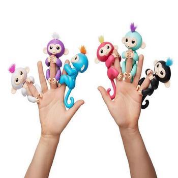 цена Genuine License Fingerlings Monkey Finger Baby Monkey  Interactive Baby Pet Intelligent Toy Tip Monkey Finger monkey ZT005 онлайн в 2017 году