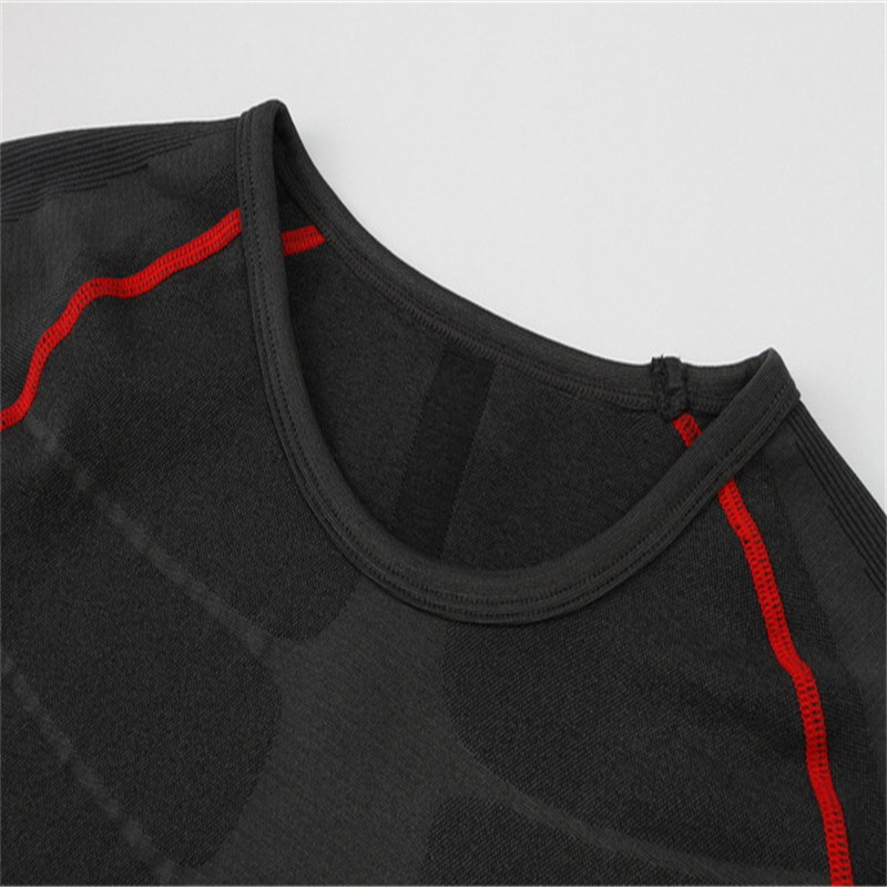 남성 Compression Shirt 근육 Spareribs Shaping Crossfit T-Shirts - 남성 의류 - 사진 6