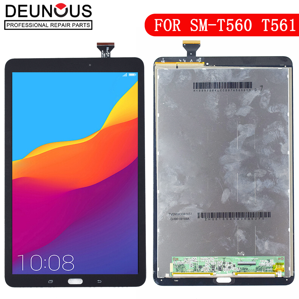 New For Samsung Galaxy Tab E 9.6 SM T560 T560 SM T561 LCD Display Touch Screen Digitizer Matrix Panel Tablet Assembly Parts