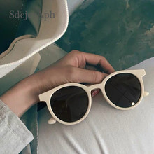 Retro Women Round Sunglasses Shades Vintage Tinted Color Lens Ladies Sunglasses Brand Korea Fashion Summer Sun Glasses Eyewear(China)