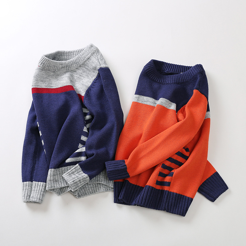 Knitted Sweater for boys 2017 Autumn Winter Boys Sweaters Children Warm O-Neck Wool Sweaters Boy Pullover Kids clothing girl sweater dress superfine wool knitted dress 2015 o neck pocket long sweater tassels christmas children clothing kids dresses
