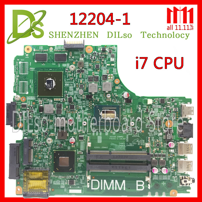 KEFU 12204-for dell INSPIRON 3421 laptop motherboard 12204-1 dell motherboard i7 CPU orginal Test motherboard