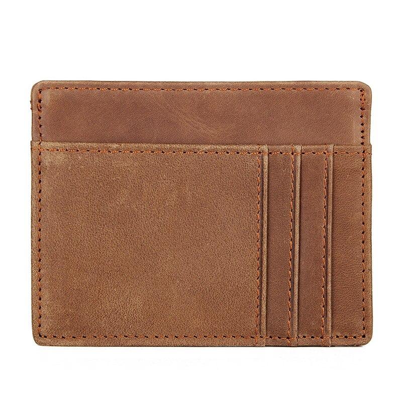 Men/'s Genuine Leather Thin Wallet ID Credit Card Slim Holder Money Pocket US MT