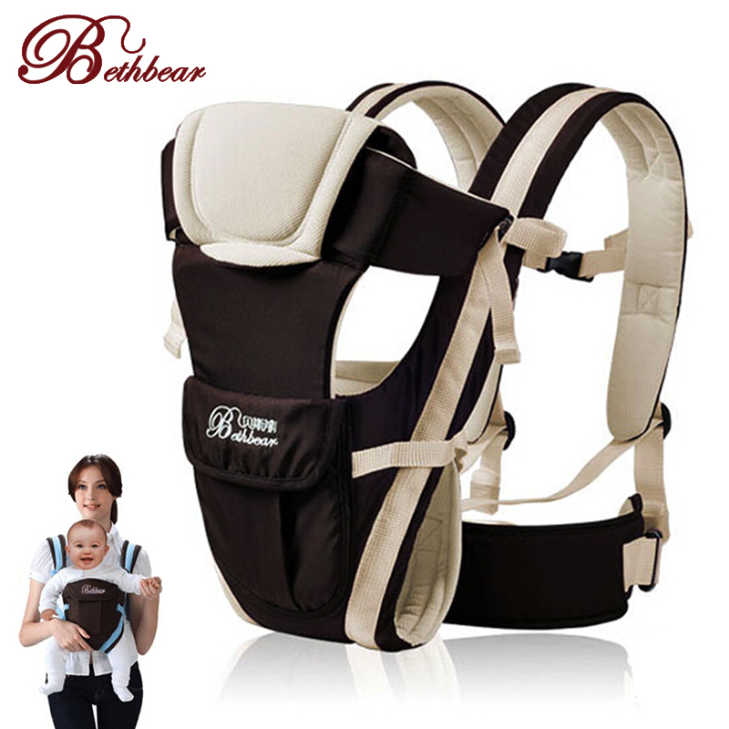 ФОТО 2-30 Months Breathable Multifunctional Front Facing Baby Carrier Infant Comfortable Sling Backpack Pouch Wrap Baby Kangaroo