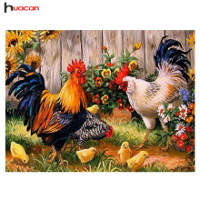 Diamond Embroidery Painting Cross Stitch Cock Rooster Animal Picture of Rhinestones Christmas FFM2025-2008 New Year Gift Home