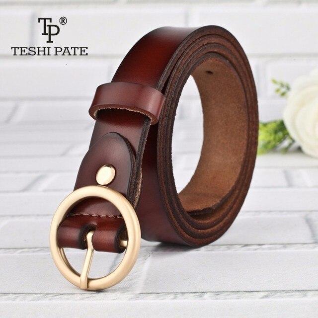 TESHI PATE TP 2018 Ronde boucle Dames de mode ceinture boucle broches  femelle ceinture de mode 63046783a2e