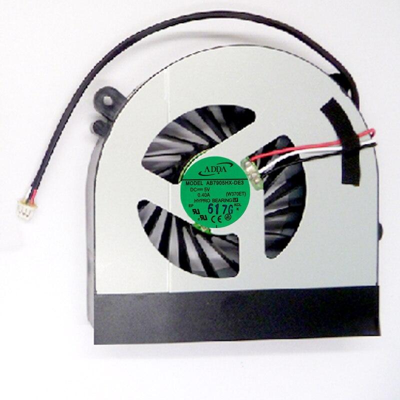 For Clevo W350 W350ETQ W370 W370ETQ W370SKQ K590S K660E Cooling Fan AB7905HX-DE3