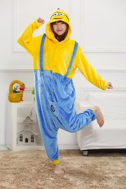 Despicable-Me-2-Minionsflannel-Pajamas-cosplay-Pijama-animal-Onesies-Pyjamas-sleep-Robe