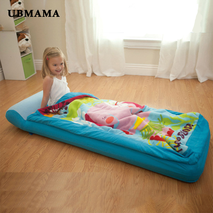 Single Person Thickened Air Cushion Bed Inflatable Mattress For Children Portable Travel Bed Fleece Fleece Nap Bed